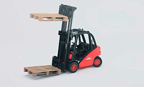 Image of Bruder 02511 Linde H30D Forklift with Tow-Coupling and 2 Pallets