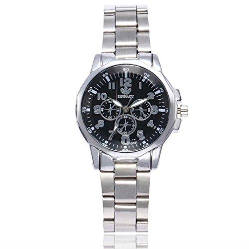 Fittingran orologio al quarzo casual da donna alla moda con cinturino al quarzo (argento a)