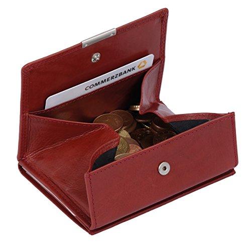 Wiener Schachtel Ausweisformat LOUANA in Echt-Leder, cherry, 11x9cm