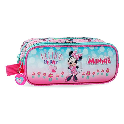 Disney Minnie Heart Beauty Case da viaggio 23 centimeters 1.45 Rosa