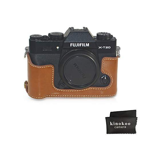 kinokoo cámara funda de piel mitad inferior caso inferior de piel sintética para Fujifilm x-t30 Fujifilm x-t20 open-able