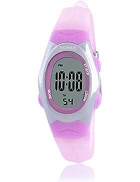 RetroLEDWasserdichte digitale Uhren/Mädchen Mädchen multifunktionale elektronische Uhren-D