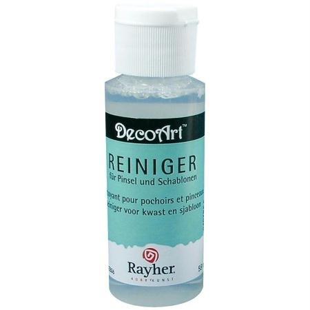Rayher 38024000 Reiniger für Schablonen und Pinsel, Flasche 59 ml