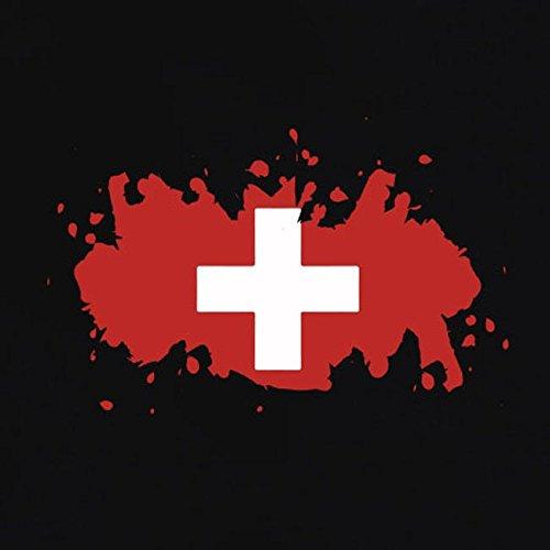 TEXLAB - Splash Schweiz - Herren T-Shirt Grau