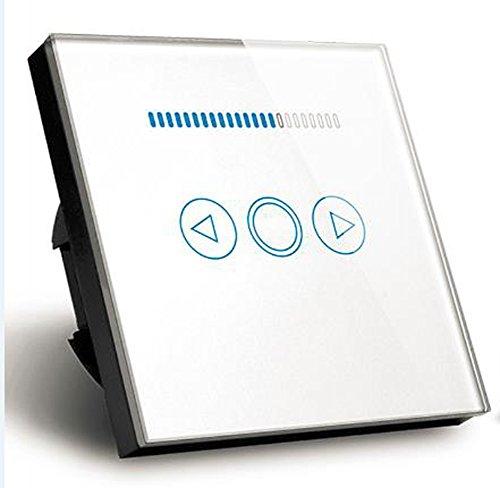 EU Standard 500 W LED Licht Dimmer Schalter Tempered Crystal Glasscheibe Touch Lichtschalter Dimmer (Weiß) (Smart Dimmer)