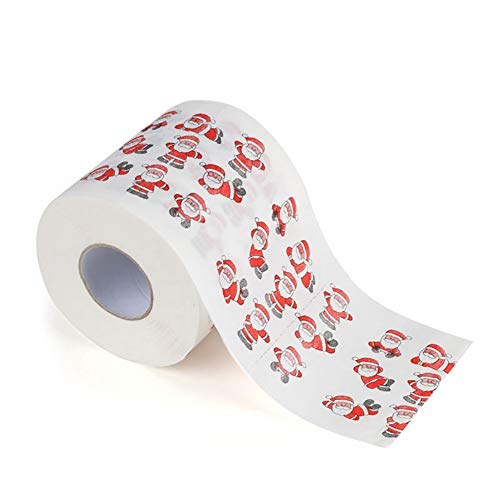 Slri siridescentzb decorazioni natalizie, xmas babbo natale cervo stampa carta igienica rotolo di carta tessuto soggiorno arredamento da tavola d