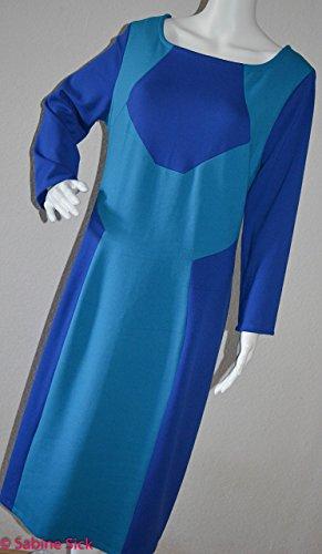 blaues Kleid mit tollen Formen..verschiedene Blautöne in einer super tollen Struktur. (Form Kurvige)