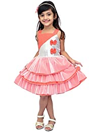 KILKARI FRILLED FANTACY FOR YOUR LITTLE CUTIE WITH NET AND SEQUINS