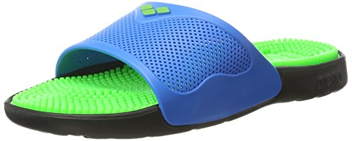 arena Unisex Massage Badesandale Marco X Grip (Massagenoppen, Rutschfest), Solid Lime-Turquoise (37), 38