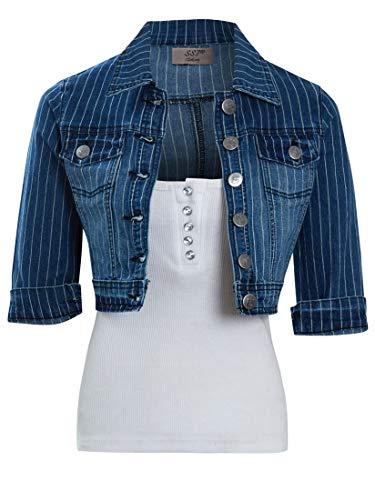Petite Jeans-jacke (SS7 Damen Crop Denim Jacke)