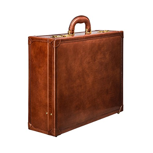 Maxwell Scott Bags® Attaché-Case en Cuir Marron Foncé (Buroni) Marron Clair