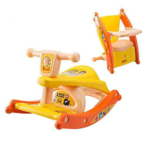 qwdf Kinderschaukelpferd Geschenk des Zeitalters Kunststoff Baby Schaukelstuhl Schaukelpferd Esszimmerstuhl für Zwei Zwecke Spielzeugbaby mit Musik