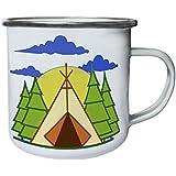 Nueva Colina Al Aire Libre De Camping Retro, lata, taza del esmalte 10oz/280ml l765e