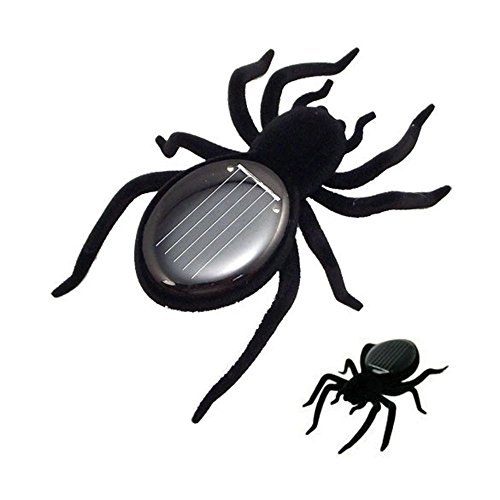 YOUSHITOP Kinder Creative schwarz langlebiges Mini Spider Tarantel Trick Spielzeug Educational Roboter Scary Insekten Gadget Solar Power Spider Spielzeug Solar Power Gadget