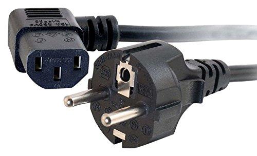 CABLES TO GO - Cable de alimentación Universal (con ángulo de 90º, 2 m)