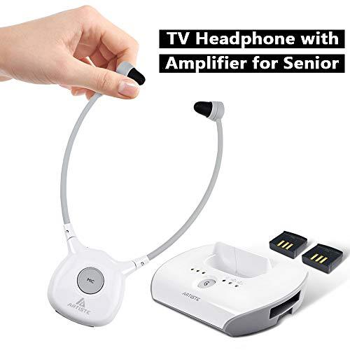 Ofertas ARTISTE Auriculares inalámbricos de audífono APH100, para Todo Tipo de Dispositivos de Audio (Incluye transmisor inalámbrico y 2 baterías Recargables)