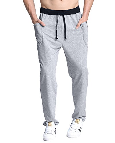 MODCHOK Herren Jogginghose Lange Hose Sport Cargo Traininghose Pants Zipper Trousers