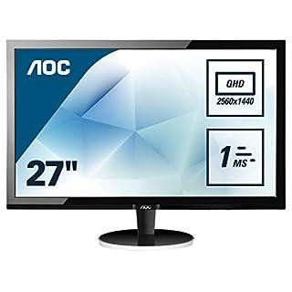 AOC 27 inch 1 ms Response Time LED Monitor, Display Port, HDMI, DVI, VGA, Vesa Q2778VQE - Black