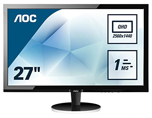 AOC 27 inch 1 ms Response Time LED Monitor, Display Port, HDMI, DVI, VGA, Vesa Q2778VQE
