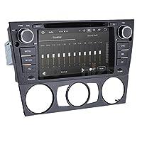 hizpo Android 10 OS 7 Inch Single Din Car Stereo Radio Car GPS Navigator DVD Player Mirrorlink Bluetooth Multi Touch Screen Fit for BMW 3 Series E90/E91/E92/E93 2006 2007 2008 2009 2010 2011 2012