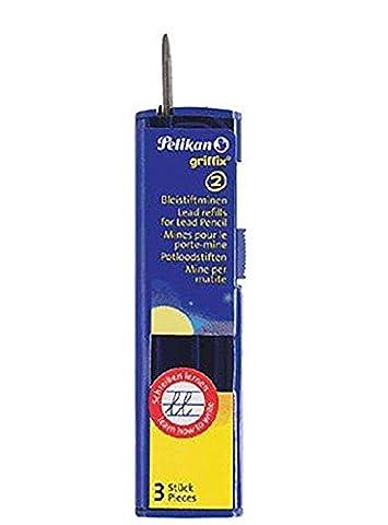 Pelikan B1R Griffix Refills Bleistiftminen Packung mit 3 Minen, Breite, 2 mm