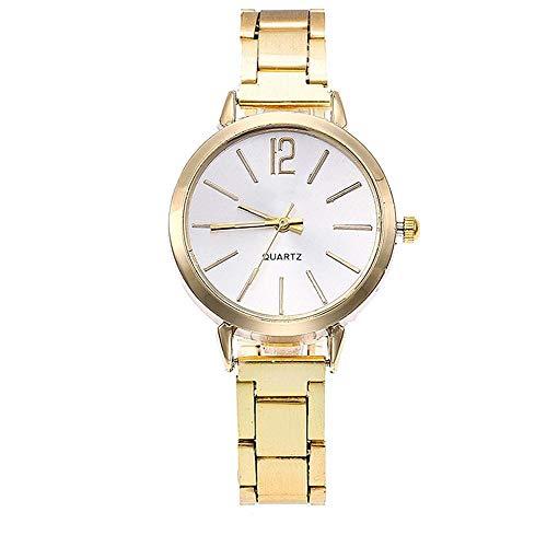 Hot Sale.firally Horloge Femme Quartz Casual en Acier Inoxydable avec Bracelet en marbre avec Horloge analogique Wristwatches Montres de Poignet Montres pour Femme Or