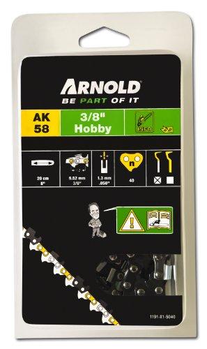 Arnold Sägekette 3/8 Zoll Hobby, 1,3 mm, 40 Treibglieder, 20/25 cm Schwert 1191-X1-5040
