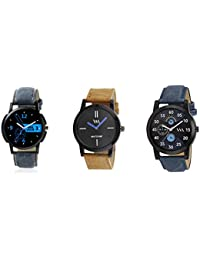 Watch Me Gift Combo Set For Him/Watches For Men/Watches For Boys (watches 3 Combo/watches 2 Combo) WMC-002-BR-AWC... - B0778N69DG