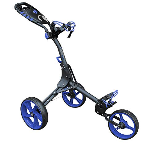 Masters Golf - iCart Compact Evo Push Trolley Grey/Blue