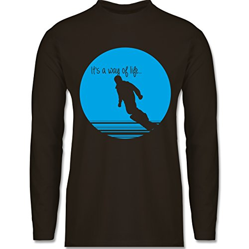 Après Ski - It's a way of life - Snowboarder - Longsleeve / langärmeliges T-Shirt für Herren Braun