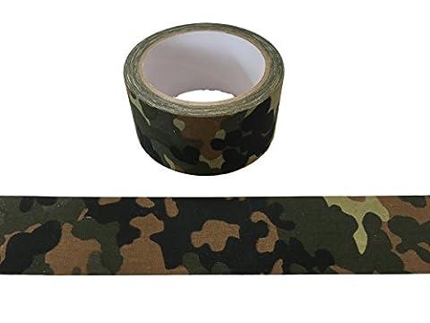 Bande de camouflage militaire 10meter bande optique Tarn vert COLLE - INDÉCHIRABLE - ETANCHE - ISOLATION - PAS REFLECTING pour l'extérieur, photo cas, camouflage, geocaching, chasse, forêt, abri - largeur de 50mm - motif sélectionnable