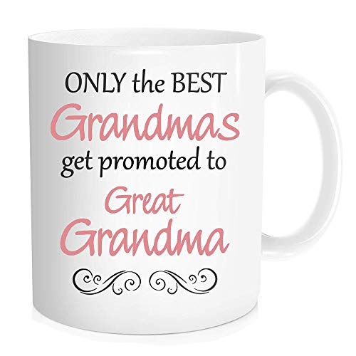 e, nur bekommen die besten Omas wird Großartiges Oma, Oma Kaffee Tasse aus Keramik mit großen Griff ist ideal für Geburtstag oder Muttertag Geschenk, Valentine 's Day Tasse ()