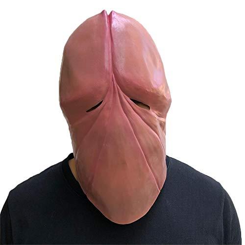 arbitra Lustige Halloween Latexmaske,Erwachsene Party beängstigend Schreckliche Maske Scherzmaske Cosplay Kostüm Vollmaske Witz Streich Maskerade