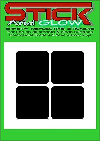 Bande réfléchissante casque autocollants/stickers x4France/français droit Noir réfléchit (Blanc) | petits