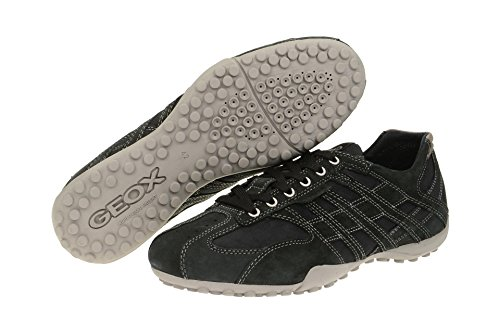 Geox Uomo Snake D, Low-Top Chaussures homme schwarz