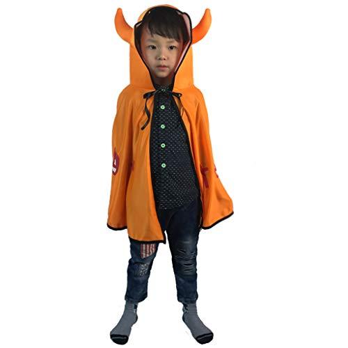 (Halloween Kinder Umhang, Dämon Vampir Kinderkleidung Cosplay Jungen und Mädchen Kleidung Requisiten (volle Länge 70cm) (Farbe : Gelb))