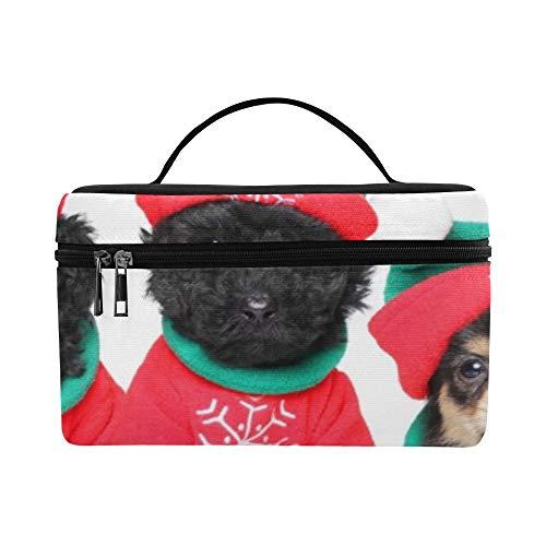 Group Puppies Weihnachts-Kostüme auf Lager mit Fotomuster, Lunchbox, Lunchbox, isoliert, für Damen/Herren/Picknick/Bootfahren/Strand/Angeln/Schule/Arbeit