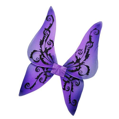 MagiDeal Vampir Fledermausflügel Kinder Fledermaus Geist Flügel Halloween Vampirflügel Bat Schädel Wings Kostüm Accessoire Karnevalskostüme Tier - Lila, 50 x (Lila Fledermaus Flügel Kostüm)