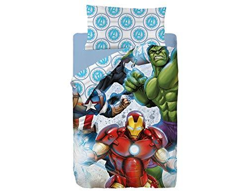Marvel Avengers Strike Saco Nórdico de 2 Piezas para Cama de 90, Cotton