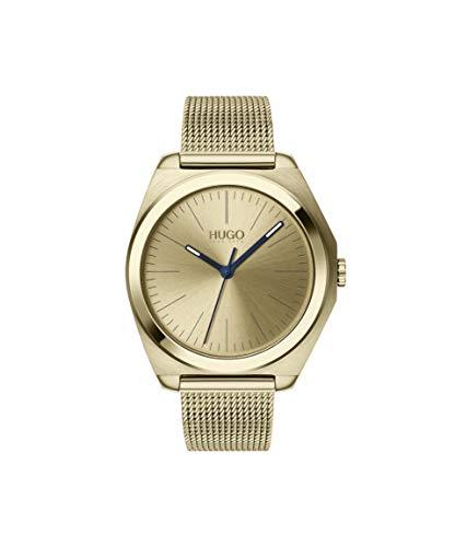 HUGO Damen Analog Quarz Uhr mit Edelstahl Armband 1540025 - Uhren Damen Movado