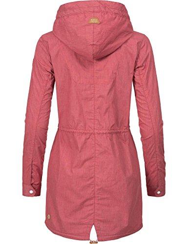 Ragwear Damen Mantel Übergangsmantel YM-Clancy Chili Red Gr. M - 2