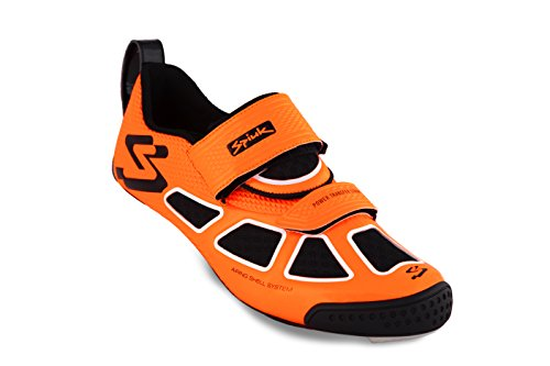 Spiuk Trivium Triathl C Shoe, Unisex Adult, Orange / White / Black, 43