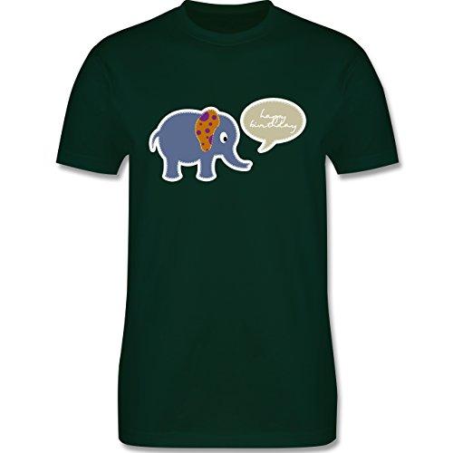 Geburtstag - Elefant Happy Birthday - Herren Premium T-Shirt Dunkelgrün