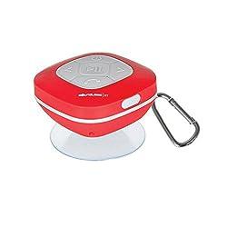 Splash Proof Shower Speaker with FM Radio - Red