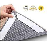 Antirutschmatte Teppich,8 Stück Teppich Aufkleber Greifer Teppichgreifer Antirutschmatte Wiederverwendbar Teppichunterlage Teppichstopper, Starke Klebrigkeit für verschiedene Böden und Teppich-Pads (weiß)