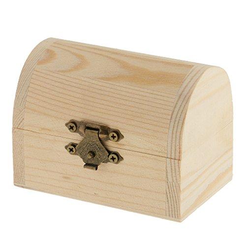 sharplace Kuppel Form natürlichen unlackiert Holz Aufbewahrungsbox Hülle für Kid Spielzeug DIY Malerei - Unfinished Handwerk Box Holz