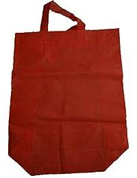"Krishna Non Woven Box Pack Bag (SIZE: 17"" X 15"" X 4""-Inches) Red, 100 Pcs."