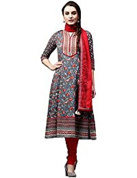 Rain And Rainbow Women's Anarkali Salwar Suit (Pack Of 3)