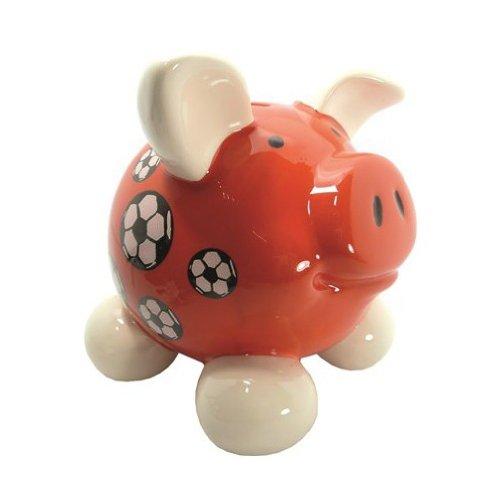 Swiggie Sparschwein Fussball rot mittel Sparschweinchen Schweinchen
