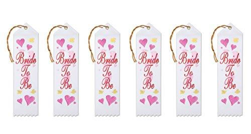 Beistle AR128 Bride to be Award-Bänder, 5,1 x 20,3 cm, 6 Stück